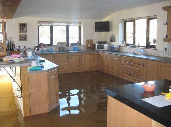 NuTech | Water Damage Restoration | Flooded Kitchen