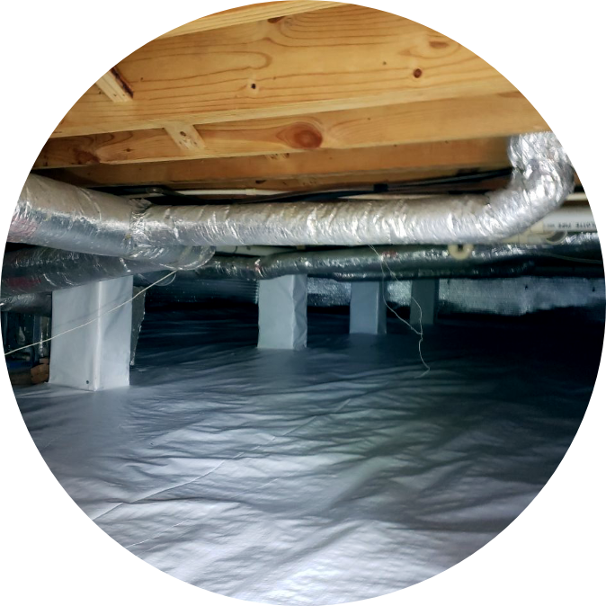 Encapsulated Crawl Space | Crawl Space | NuTech Mold & Water |